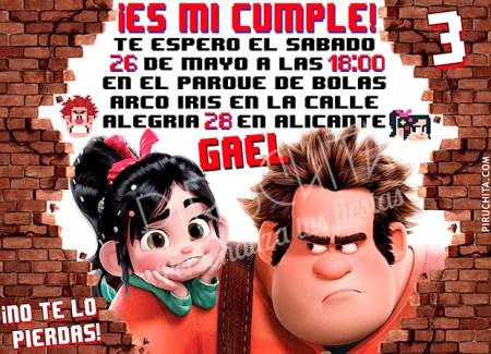 Invitación cumpleaños Rompe Ralph #01 | Digital Imprimible