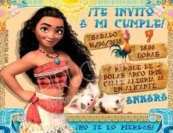 Invitación cumpleaños Vaiana (Moana) #01   Digital Imprimible