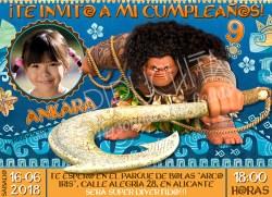 Invitación cumpleaños Vaiana (Moana) #04 con Foto  Digital Imprimible
