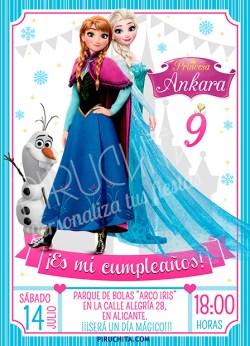 Invitación cumpleaños Frozen #14 | Digital Imprimible