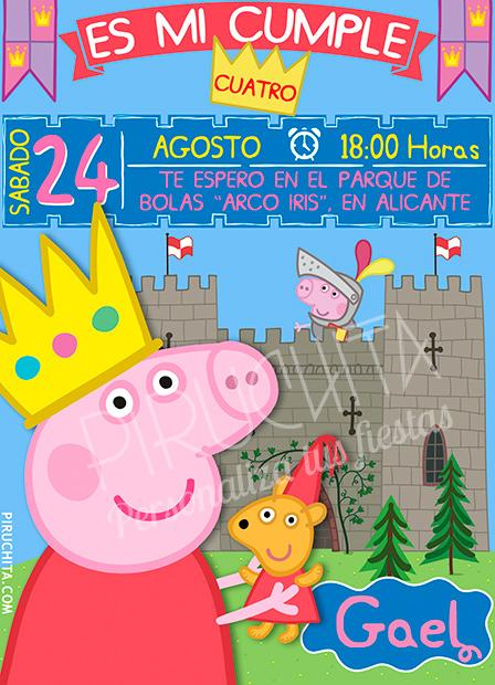 Invitación cumpleaños Peppa Pig #05 | Digital Imprimible