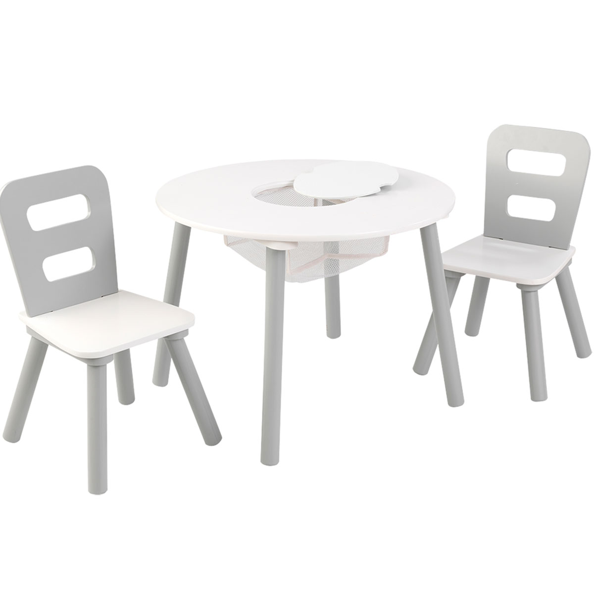 kidkraft white table and chairs the mermaid chair round 2 set gray 26166