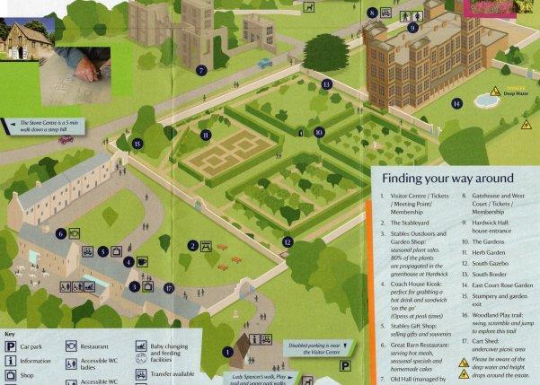 mapa Hardwick hall