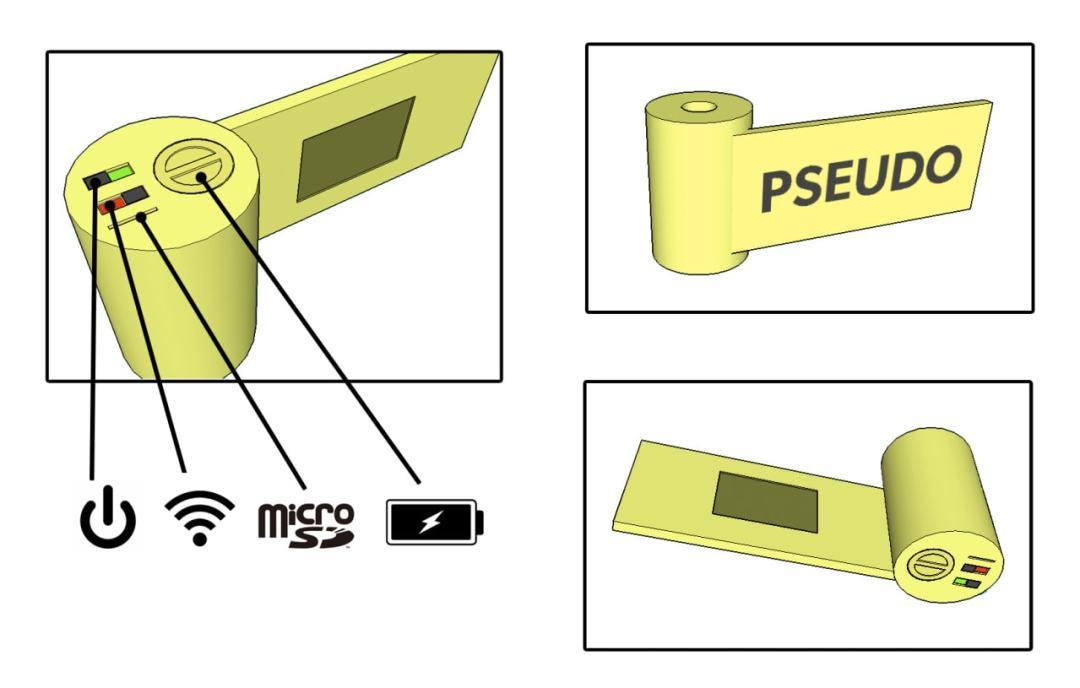 pseudo digital film canister