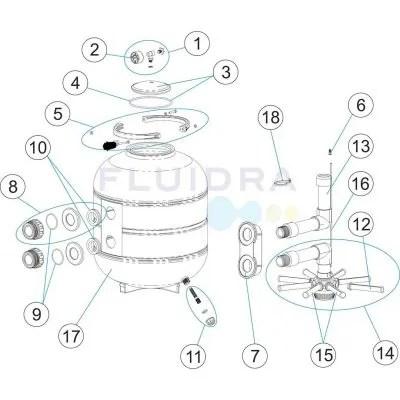Recambio MANGUITO DE ENLACE PVC para brazos colectores