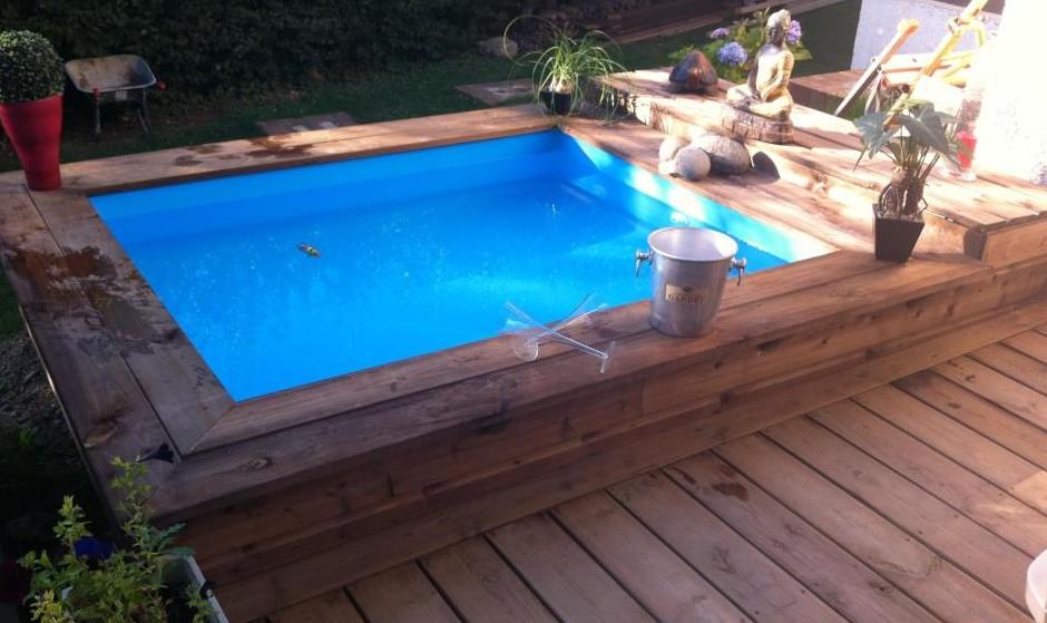 Mini piscina de madera Nika para terrazas  Piscinas Athena