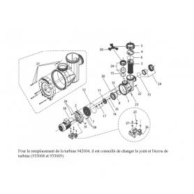 Pièces détachées pompe badu 95 resort modele 60 a 110