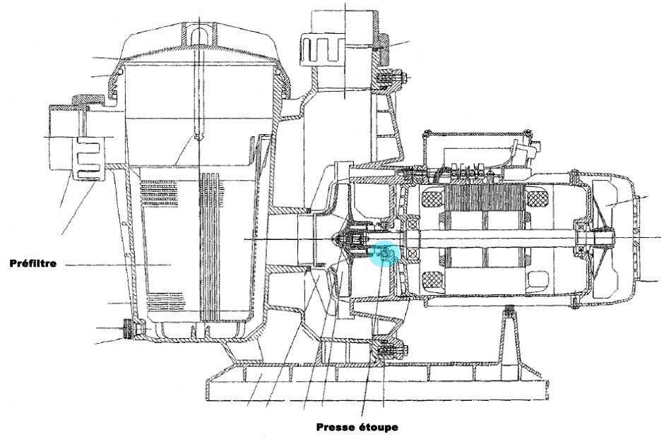 Presse Etoupe Ou Garniture Mecanique Pompe Piscine Autoamorcante