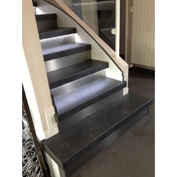 Recouvrement escalier bton ardoise74140 sciez sur leman