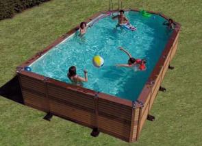 Piscine Zodiac  Le must de la piscine bois composite Zodiac Azteck mixte