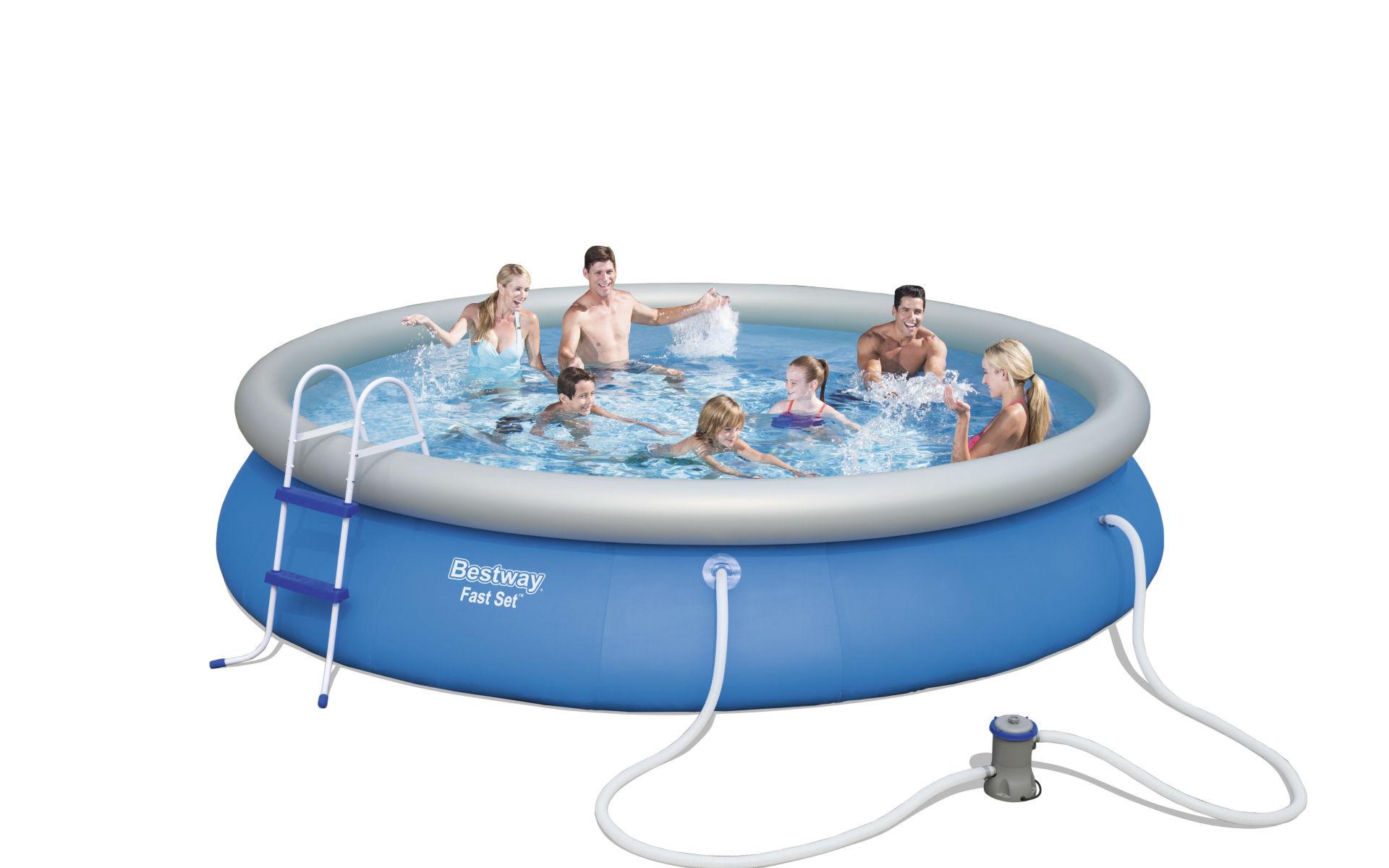 une piscine tubulaire ou