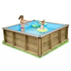 piscina fuori terra in legno rettangolare pistoche x