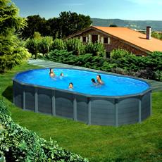 piscine hors sol gre en acier ovale 610x375x1 32 capri kitprov6188gf