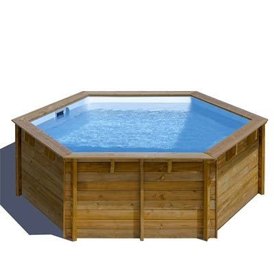 piscine bois ronde sunbay vanille first