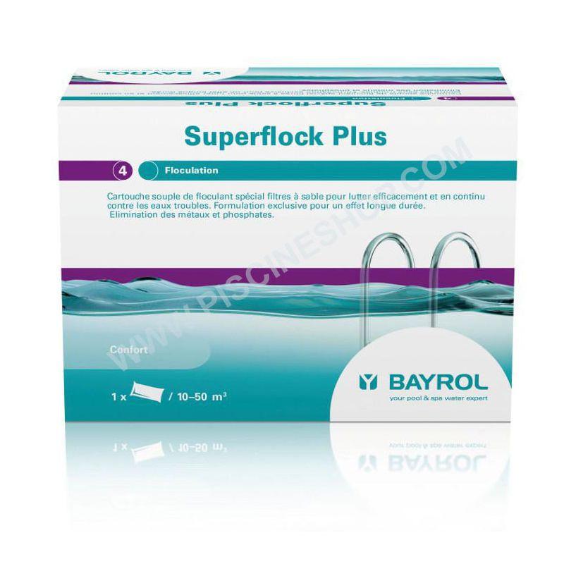 Floculant cartouche pour filtre  sable Superflock Plus BAYROL 1kg  Piscine Shop
