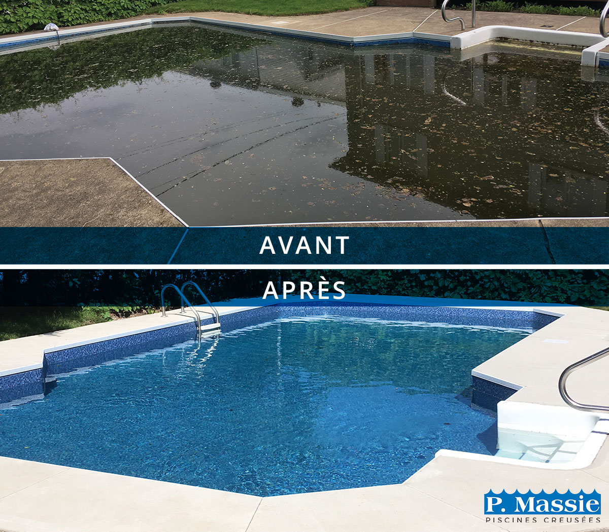 Restauration de piscine  Rnovation et rparation  Piscines P Massie