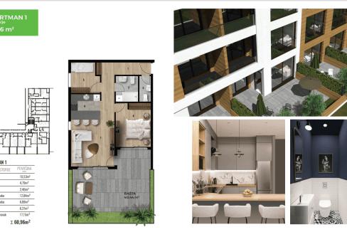 Lux dvosoban stan za prodaju u Tološe | Podgorica