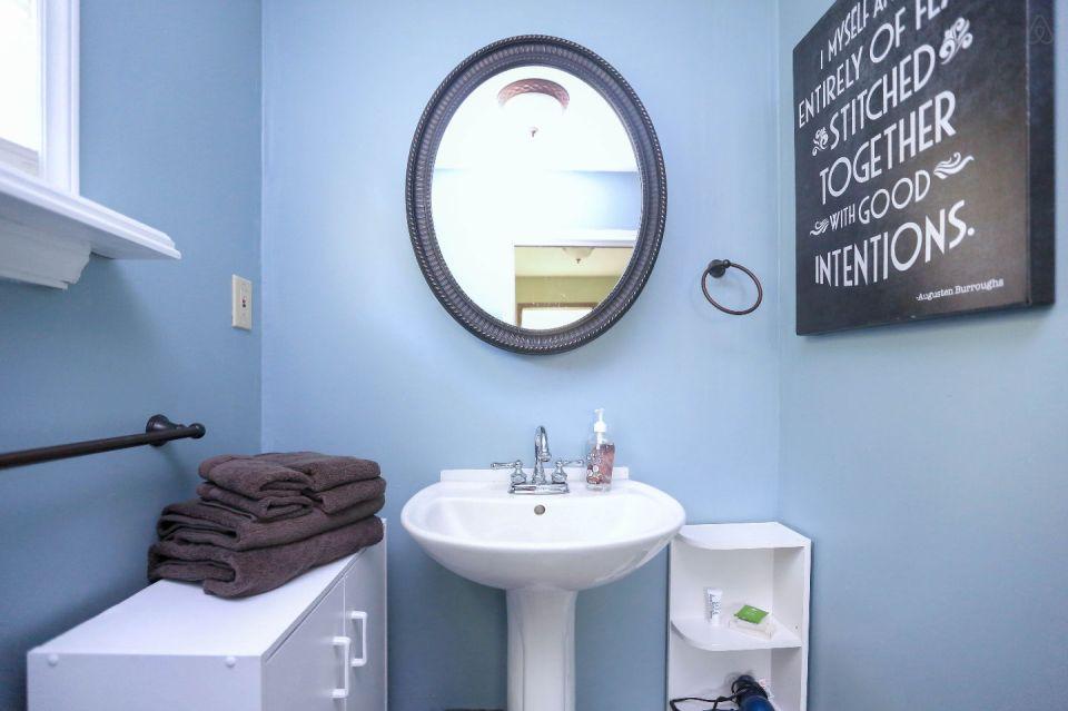 pisgah bike house bathroom sink