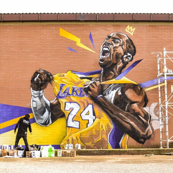 """Forever Kobe"" by Piskv_Tribute to Kobe Bryant_Rome_2020"