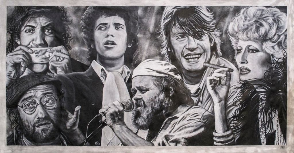 """Italian Legends"" by Piskv_Acrylic on Canvas_100x200cm_2018"