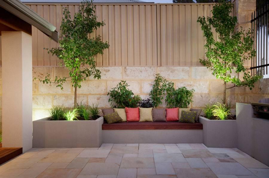 15 diseos con jardineras de hormign para el exterior