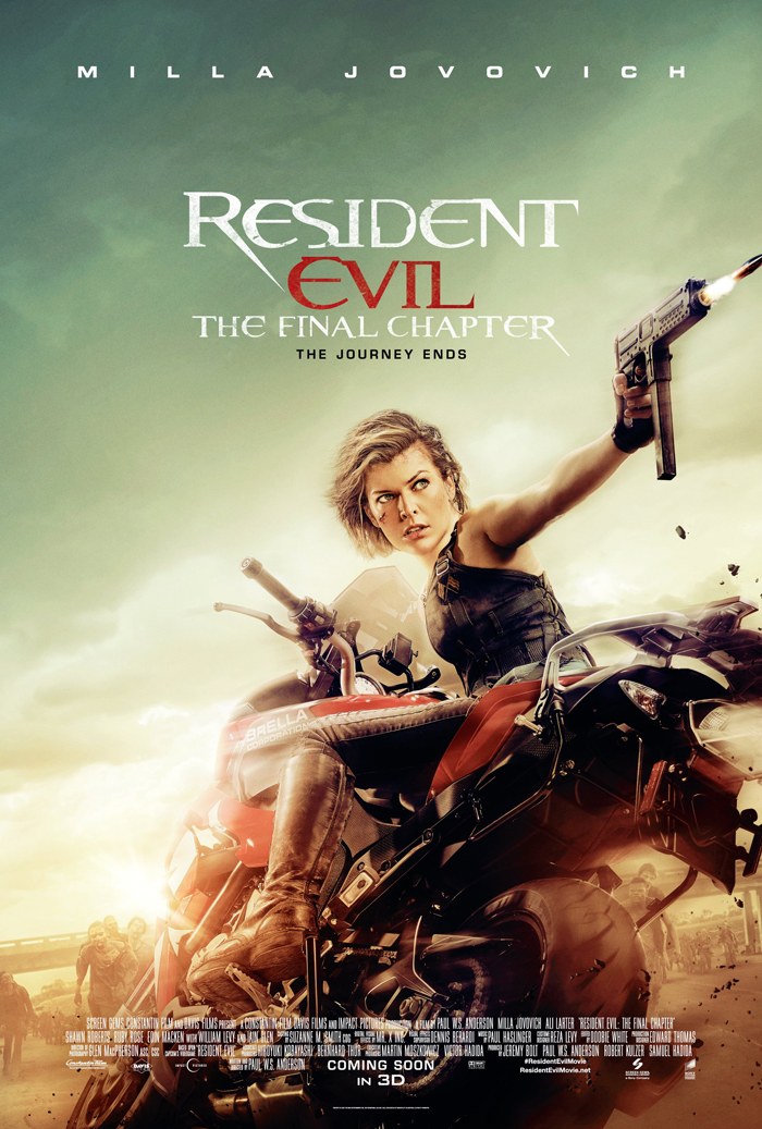 Resident Evil The Final Chapter Release