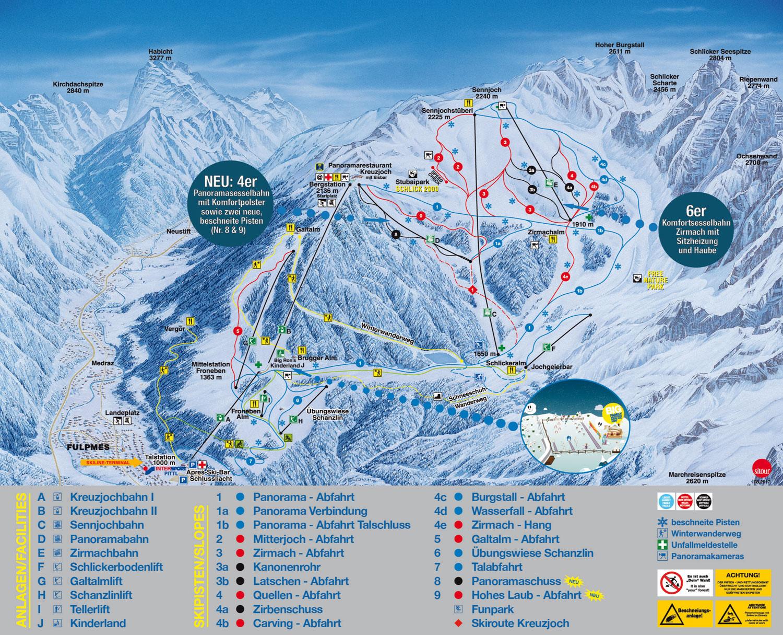 Schlick 2000 Piste Map  Free downloadable piste maps