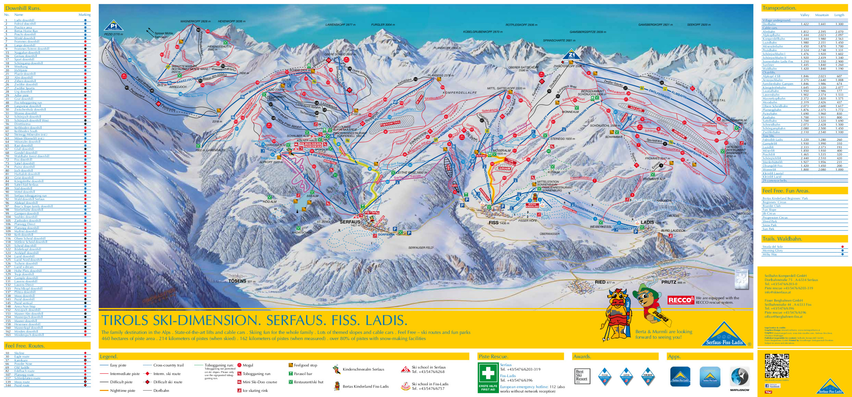 Ski Dimension Serfaus Fiss Ladis Piste Map