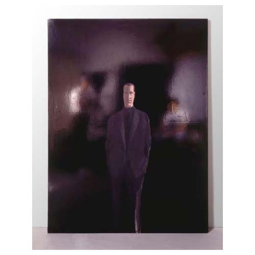 'The Present - Man seen from the Front,' 1961, acrylic and plastic paint on canvas, cm 200 x 150