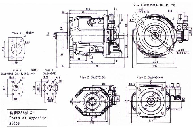 A10VSO18 Thread Variable Displacement Axial High Pressure