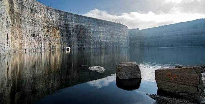 Quarry serves as flood water reservoir