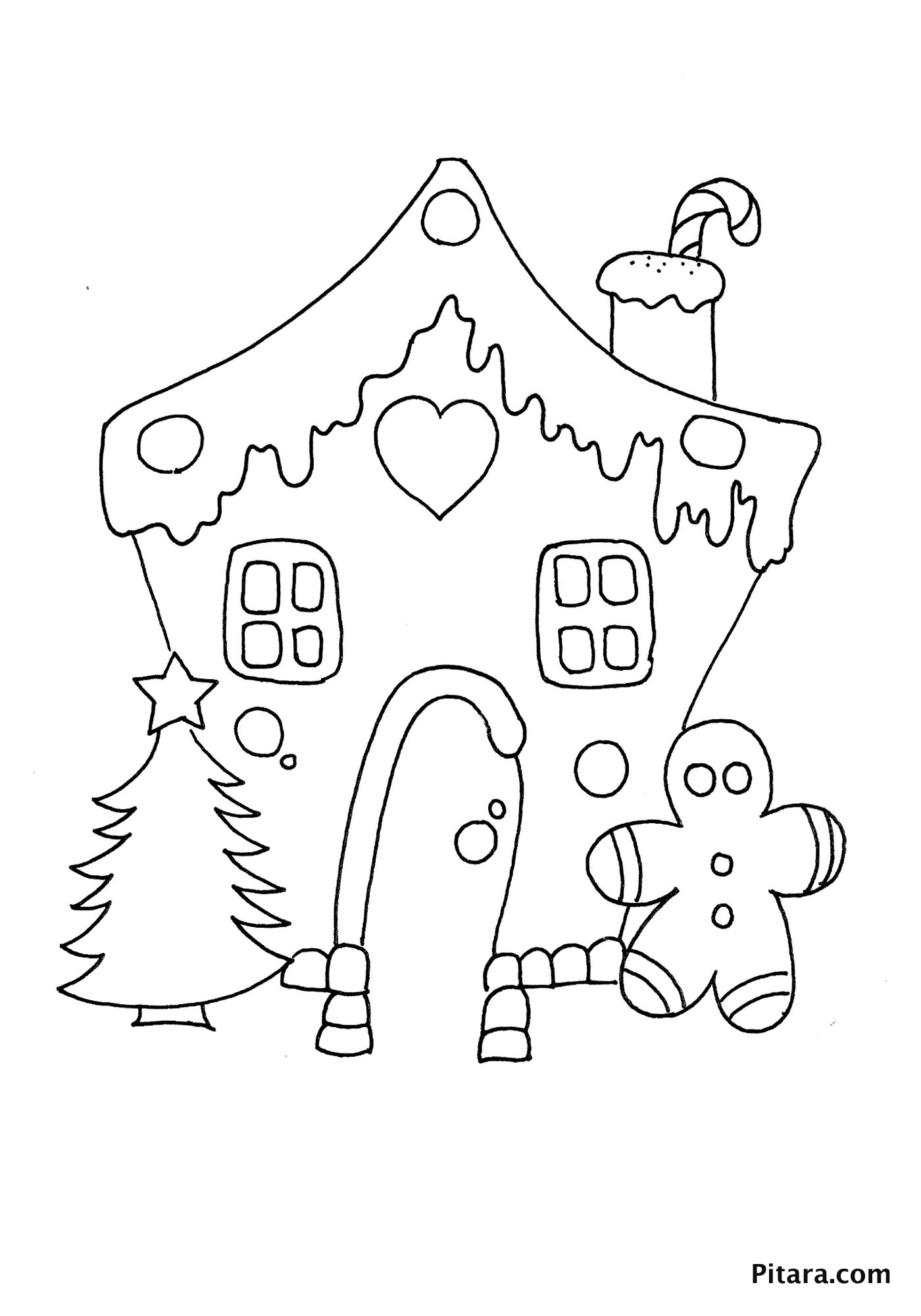 Christmas decorations – Coloring page
