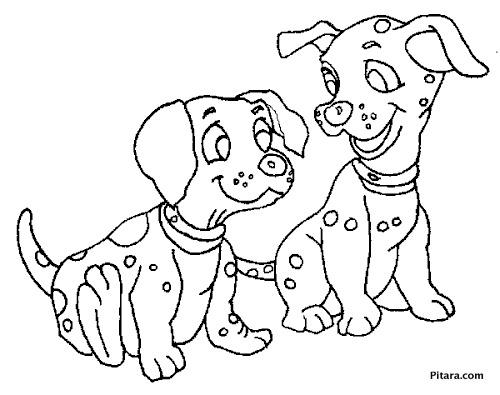Dalmatian puppies – Coloring page