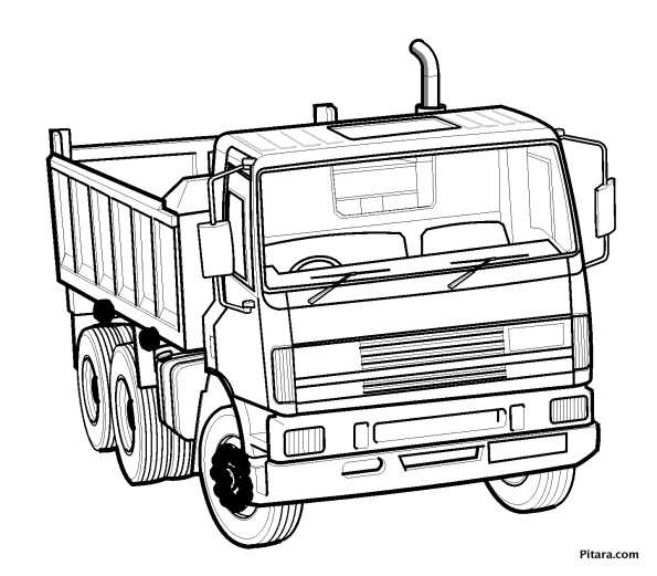 Dumper truck – Coloring page