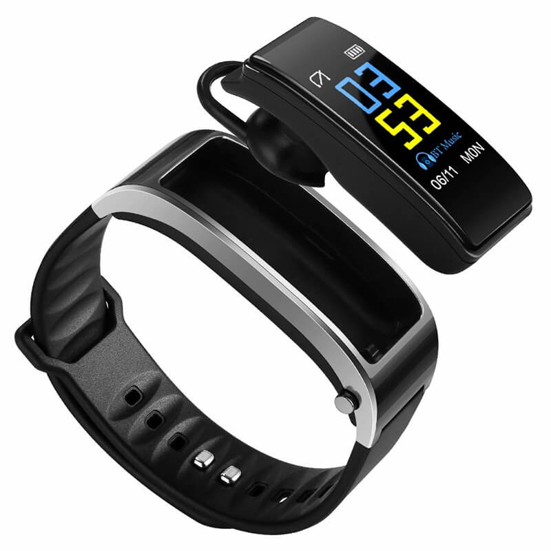 Smart Fitness Tracking Bracelet with Bluetooth Headset – All in one Gadget