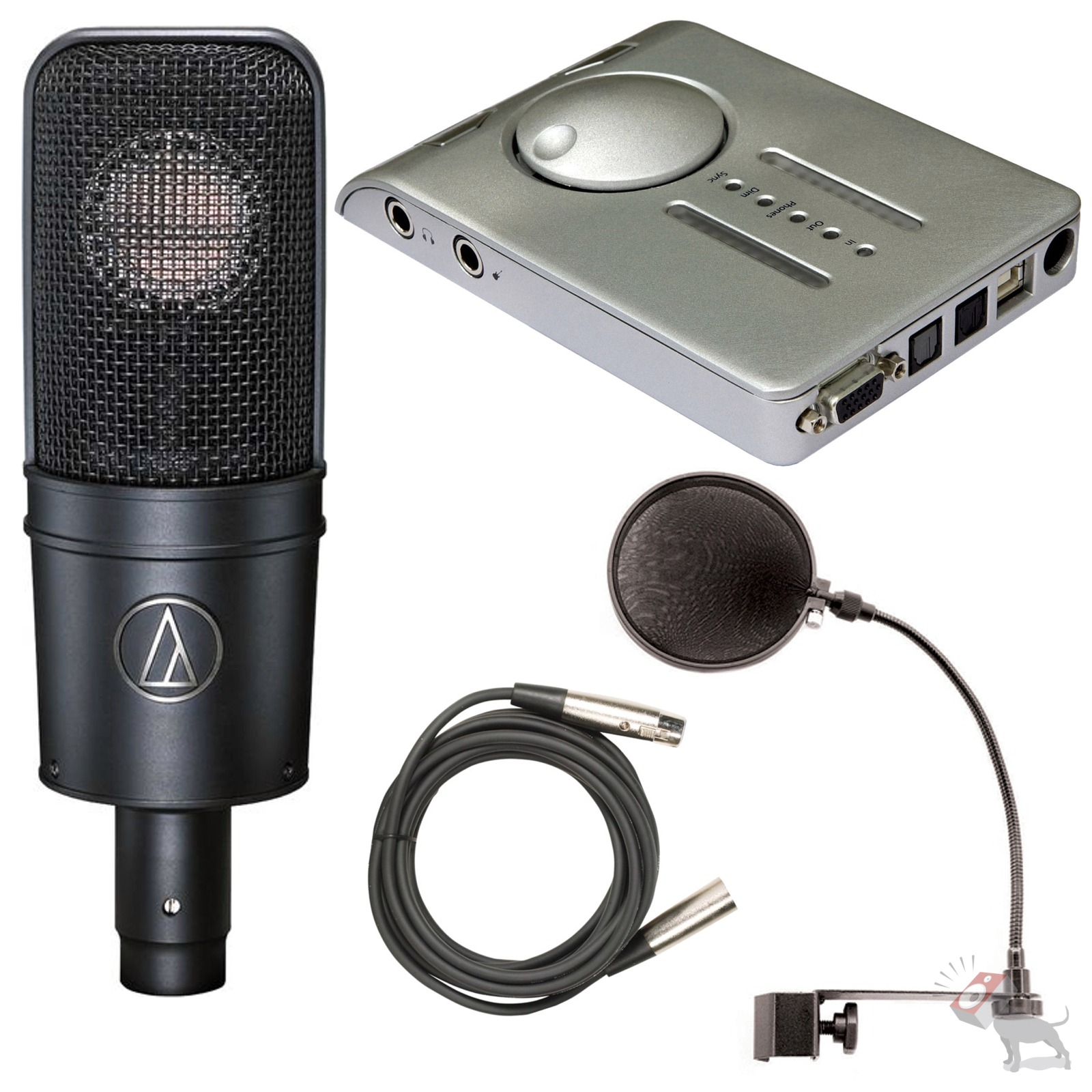 RME Babyface Silver Interface AT4040 Recording Microphone Pop Filter & Mic Cable   eBay