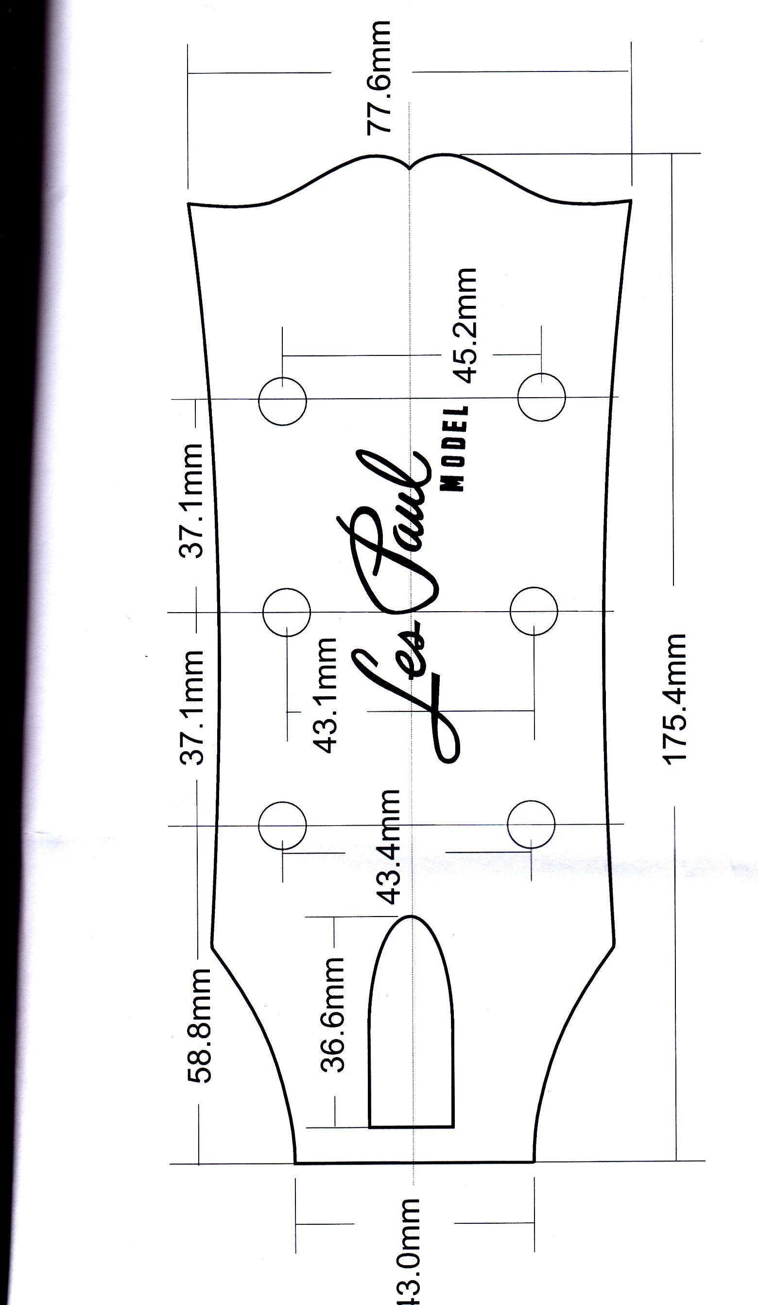 5 Awesome Gibson Headstock Dimensions Images