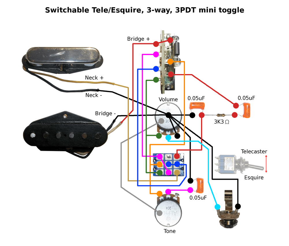 4 way switch telecaster wiring diagram uk house lighting switchable tele/esquire