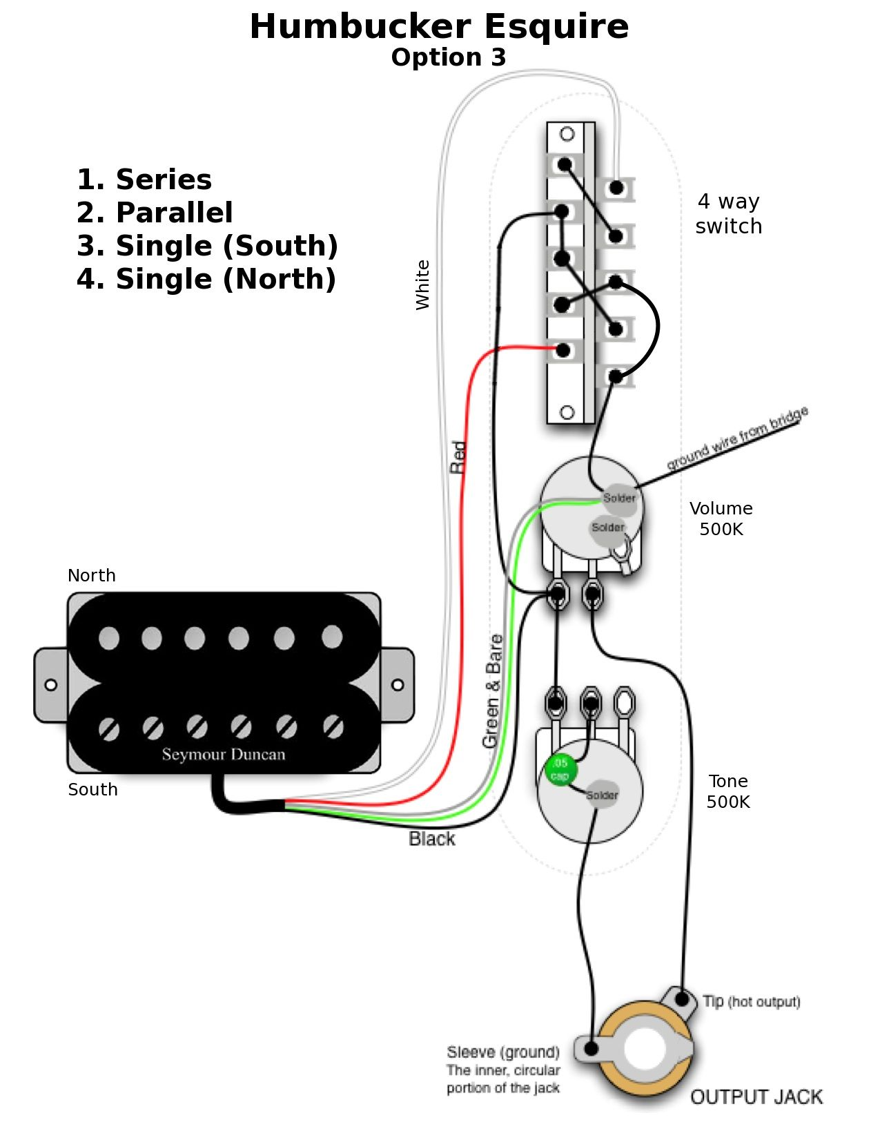 P Bass Pickup Wiring Diagram