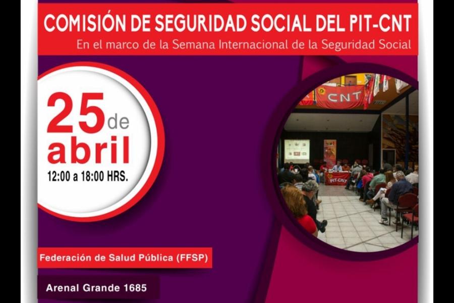 """Para construir un sistema de seguridad social """"solidario, universal y sin AFAPs"""" asume el lunes el representante del PIT-CNT en el BPS"""