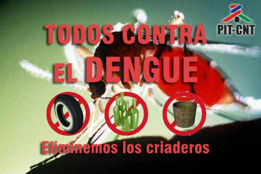 PIT-CNT exhorta a los trabajadores a extremar compromiso en lucha contra el dengue
