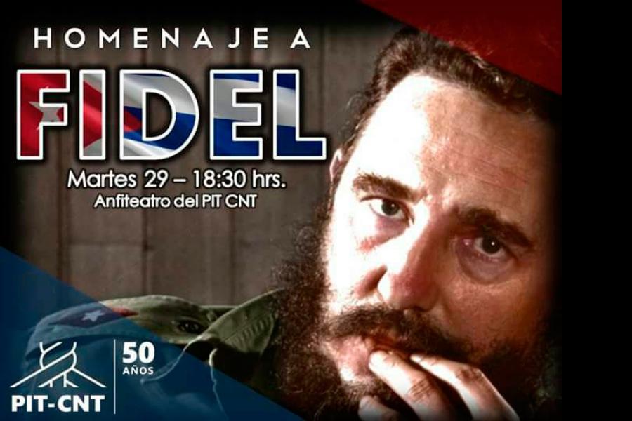 """Abdala (PIT-CNT): """"el mejor homenaje de la clase obrera a Fidel es mantener su lucha por la emancipación de todos los pueblos"""""""