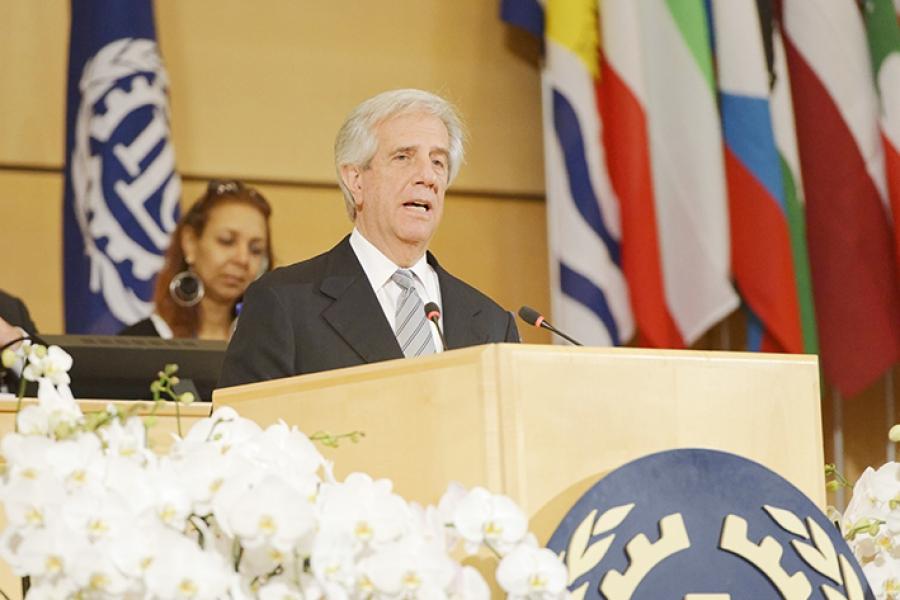 En Conferencia de OIT el presidente Vázquez defendió a ultranza la negociación colectiva