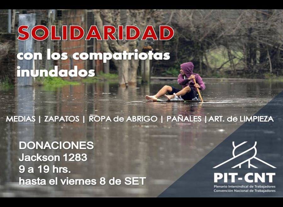 Solidaridad con los compatriotas afectados por las inundaciones