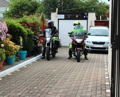 Bikers Welcome at Pitfaranne for the NC500
