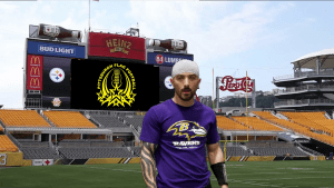 Dante Player card for Pittsburgh Flag Football Association.
