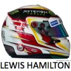 Lewis Hamilton Mercedes GP 2015 F1 helmet