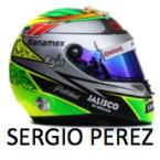 Sergio Perez Force India - 2015 - Helmet