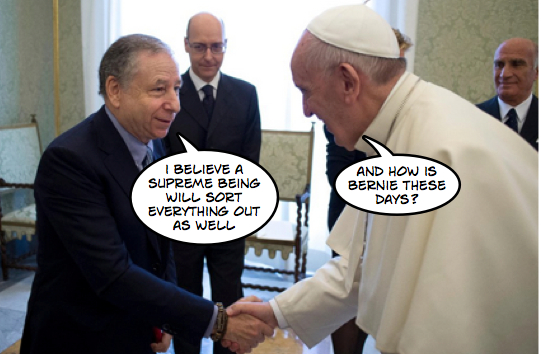 Powerful self-delusionist meets Pope