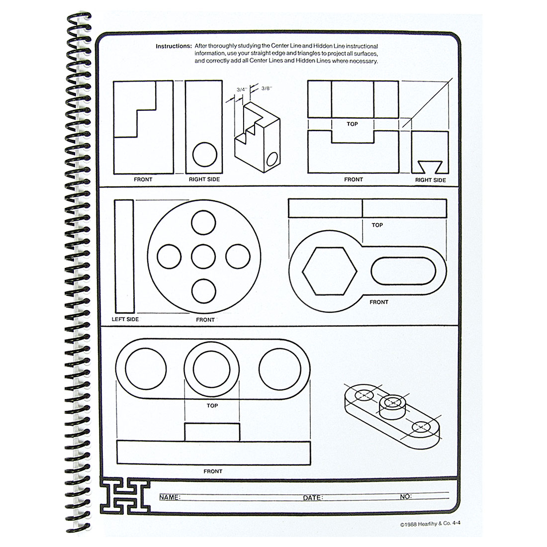 Instructional Workbook For Drafting Level I W